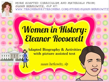 Women's History Month Adapted Biography Eleanor Roosevelt