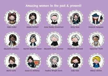 Women's History Month - Amazing Women Posters Coloring and Writing FREEBIE!