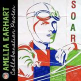 Amelia Earhart Collaborative Portrait: Great Women's History Month Activity