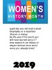 Womens History Month - Biographies - One for each day of school in March