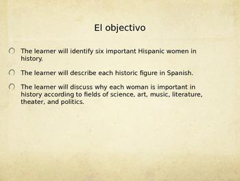 Women's History Month- Hispanic Women ppt
