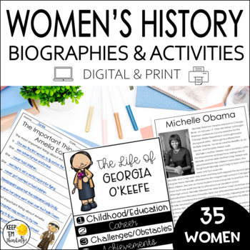 Women's History Month Activities for Researching Famous American Women