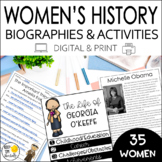 Women's History Month Activities for Researching Famous Am