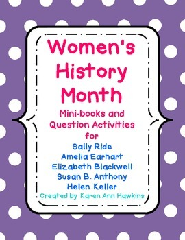 Women's History Month Mini-book Collection