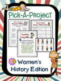 Women's History Month Pick A Project Writing Activities, C