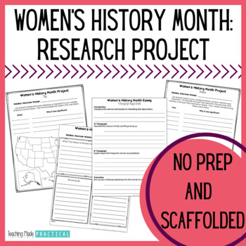 women s history month research project essay map and timeline
