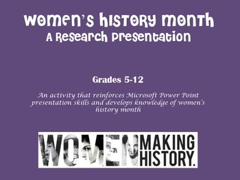 Women's History Month Research Presentation