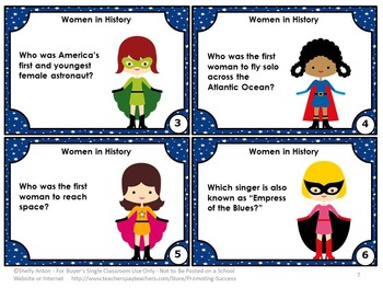Women's History Month Activities, Famous Women Social Studies Research Project