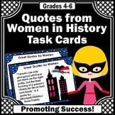 Famous Women Quotes, Social Studies Task Cards