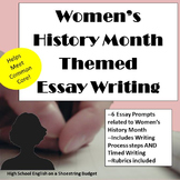 Women's History Month Themed Essay Writing, w Rubrics & Pr