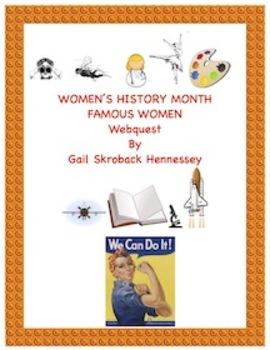 Women's History Month-Webquest