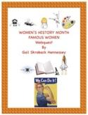 Women's History Month: A Webquest