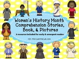 Women's History Month Comprehension Stories, Book, & Pictures