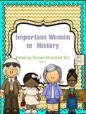 Women's History Reading Comprehension Set 1