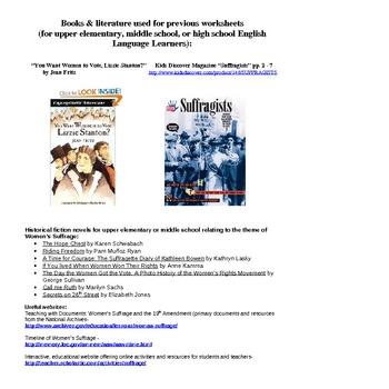 Women's History & Suffrage Complete Unit, Lesson Plans & Resources