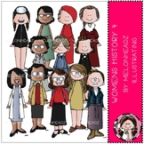 Womens History clip art - Set 4 -COMBO PACK - by Melonheadz