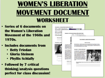 Women's Liberation Movement - 1960s & 1970s - US History/APUSH
