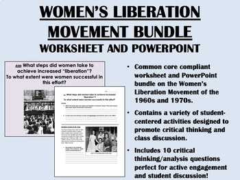 Women's Liberation Movement Bundle - US History/APUSH Common Core