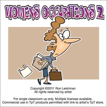 Womens Occupations Volume 2 Cartoon Clipart