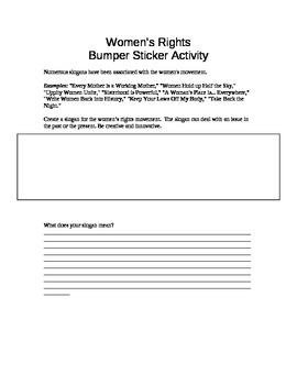 Women's Rights Bumper Sticker