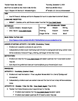 Iron Jawed Angels Worksheets & Teaching Resources | TpT