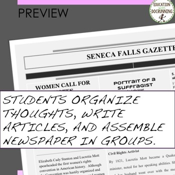 Suffragist Movement Quick and Easy Newspaper Activity
