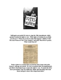 Women's Suffrage- 5th Grade
