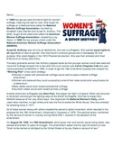 Women's Suffrage: A Brief History