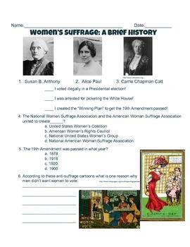 Women's Suffrage: A Brief History