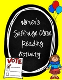 Women's Suffrage Close Read