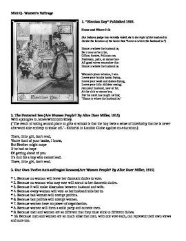 Women's Suffrage Mini-DBQ