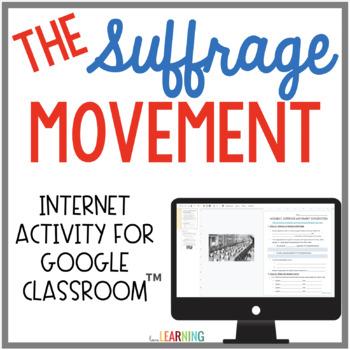 Women's Suffrage Movement {Internet Activity}