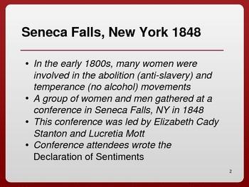 Women's Suffrage Power Point