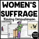 Women's Suffrage Reading Comprehension Worksheet, DBQ, Civil Rights