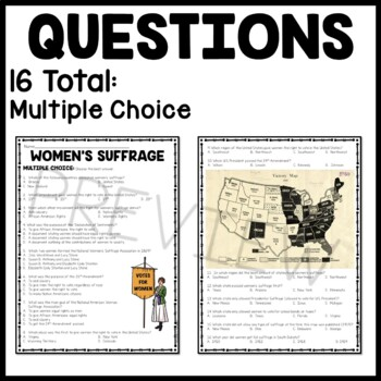 women suffrage dbq Mini dbq practice 8 to what extent were women's experiences in the factories reflections of the profound social changes because of the industrial.
