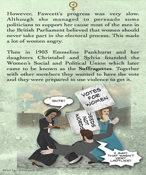 Women's Suffrage - Comic Book