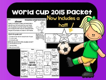 Women's World Cup Packet 2015 Now with a hat!!!!