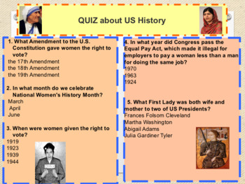 International Women's day interactive powerpoint for lesson/assembly