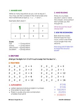 Wom's Mathematickles: 100 Number Puzzlers