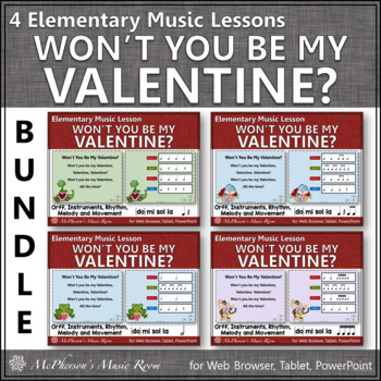 Valentine's Day Music Lessons: Won't You Be My Valentine? {Bundle}