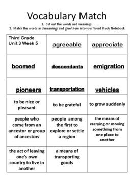 Wondeers:  Grade 3 Unit 3.5:  Value the Past