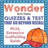 Wonder: 100+pages CC-Aligned Quizzes/Assessments for Novel Study