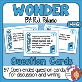 Wonder Question Cards including Precepts! Discussion or Writing Prompts