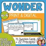 Wonder Question Cards including Precepts