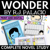 Wonder Novel Study Unit - Literature Guide with Questions, Activities, Vocab
