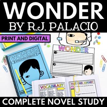Wonder Novel Study Unit - Literature Guide with Questions, Activities, Vocab