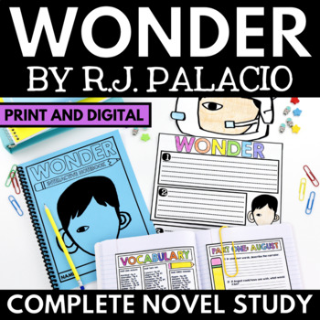 Wonder Novel Study Unit - Literature Guide with Questions,