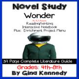 Wonder Novel Study & Enrichment Project Menu; Plus Digital Option
