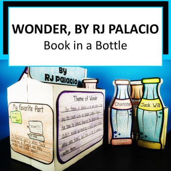 Wonder by RJ Palacio Activity - Book in a Bottle!