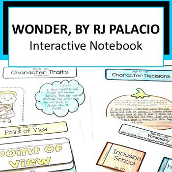 Wonder by RJ Palacio Interactive Notebook